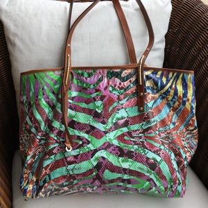 Jimmy Choo Scarlet Exotic Tote